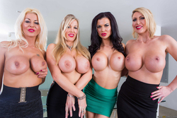 Four Big Boobed Sluts with one Cock - pics 02