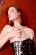 Sexy Justine Joli Leather Corset - pics 11
