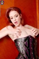 Sexy Justine Joli Leather Corset - pics 13