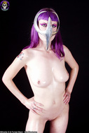 Busty Babe in Chrome Cell Mask - pics 00