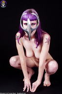 Busty Babe in Chrome Cell Mask - pics 04