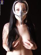 Gothic Babe Big Beautiful Tits - pics 03