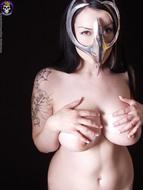 Gothic Babe Big Beautiful Tits - pics 06