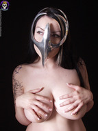 Gothic Babe Big Beautiful Tits - pics 07
