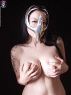 Gothic Babe Big Beautiful Tits - pics 09