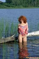 Curly Redhead Chick Melissa Spreading - pics 00