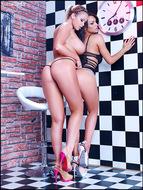 Big Boobed Lesbians Gone Wild - pics 05