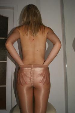Sexy Amateur Shiny Nylon Panyhose - pics 10