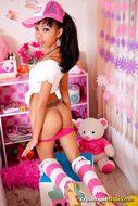 Thai Cutie Slender Stripping Hot - pics 05