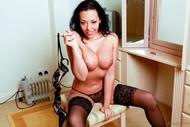 Big Boobed Stocking Babe Porn - pics 01