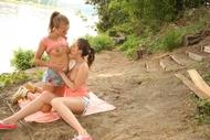 Cute Amateur lesbians outdoors - pics 04