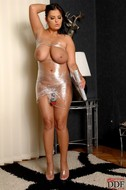 Jasmine Black Big Boobs in Foil - pics 12