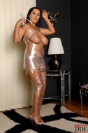 Jasmine Black Big Boobs in Foil - pics 15