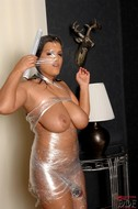 Jasmine Black Big Boobs in Foil - pics 16