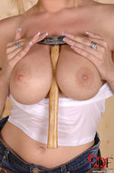 Big titted Donna Bell Wet t-shirt - pics 06