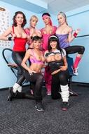Six Horny Lesbians Hard Porn - pics 00