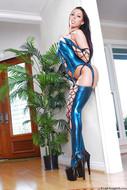Rachel Starr in Shiny Lingerie - pics 10