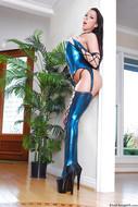 Rachel Starr in Shiny Lingerie - pics 11