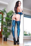 Rachel Starr in Shiny Lingerie - pics 14