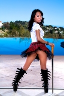Asa Akira in Latex Boots Fetish - pics 00