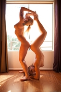 Acrobatic Lesbos in the Window - pics 14