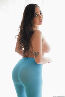 Pornstar Karlee Grey Blue Pantyhose - pics 05