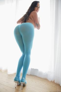 Pornstar Karlee Grey Blue Pantyhose - pics 06