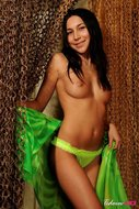 Exotic Beauty in Green Pants - pics 02