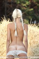Pigtailed Blonde Girl Milky Way - pics 05