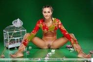 Gorgeous Brunette Babe Naked - pics 02