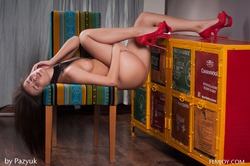 Young Chick Arina B Dirty Posing - pics 17