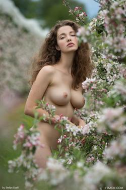 Sexy Brunette Vika A Apple Blossom - pics 05