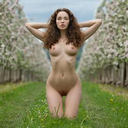 Sexy Brunette Vika A Apple Blossom - pics 13