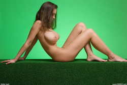 Big Boobed Ashley Framed in Green - pics 13