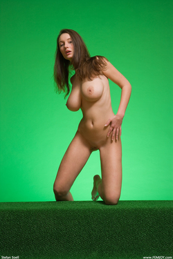 Big Boobed Ashley Framed in Green - pics 15