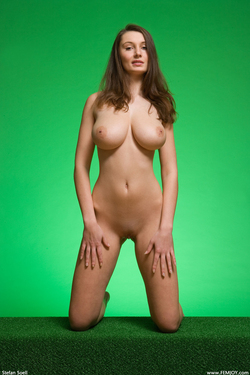 Big Boobed Ashley Framed in Green - pics 17