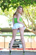Lovely Blonde Misty Upskirt Pics - pics 03