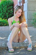 Lovely Blonde Misty Upskirt Pics - pics 05
