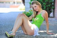 Lovely Blonde Misty Upskirt Pics - pics 08