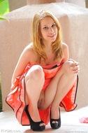 Redhead Maya with Huge Dildo - pics 03