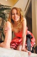 Redhead Maya with Huge Dildo - pics 06