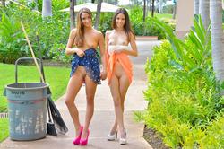 Mary, Aubrey Hawaii Models at Play - pics 04