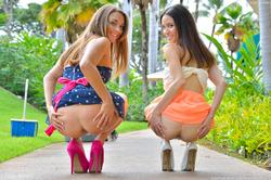 Mary, Aubrey Hawaii Models at Play - pics 07