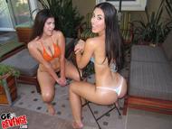 Damn Hot Latinas by the Pool - pics 09