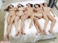 Five Beautiful Brunette Lesbians - pics 01