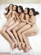 Five Beautiful Brunette Lesbians - pics 03