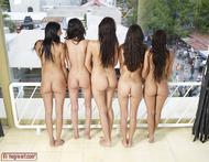 Five Beautiful Brunette Lesbians - pics 07