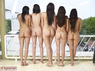 Five Beautiful Brunette Lesbians - pics 08