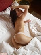Little Caprice White Panties - pics 02