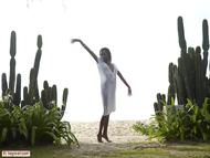 Tight Ebony Babe Valerie Cactus - pics 01
